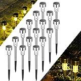 Solpex 16 Pack Solar Lights Outdoor Pathway,Solar Walkway Lights Outdoor,Garden Led Lights for Landscape/Patio/Lawn/Yard…