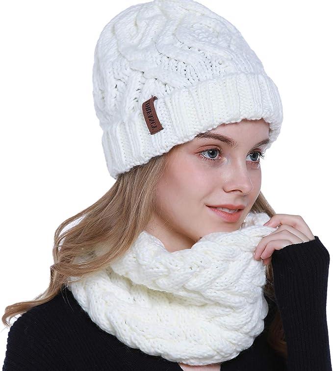 Wintermütze Damenmütze Mütze Winter Strickmütze Grobstrick Beanie