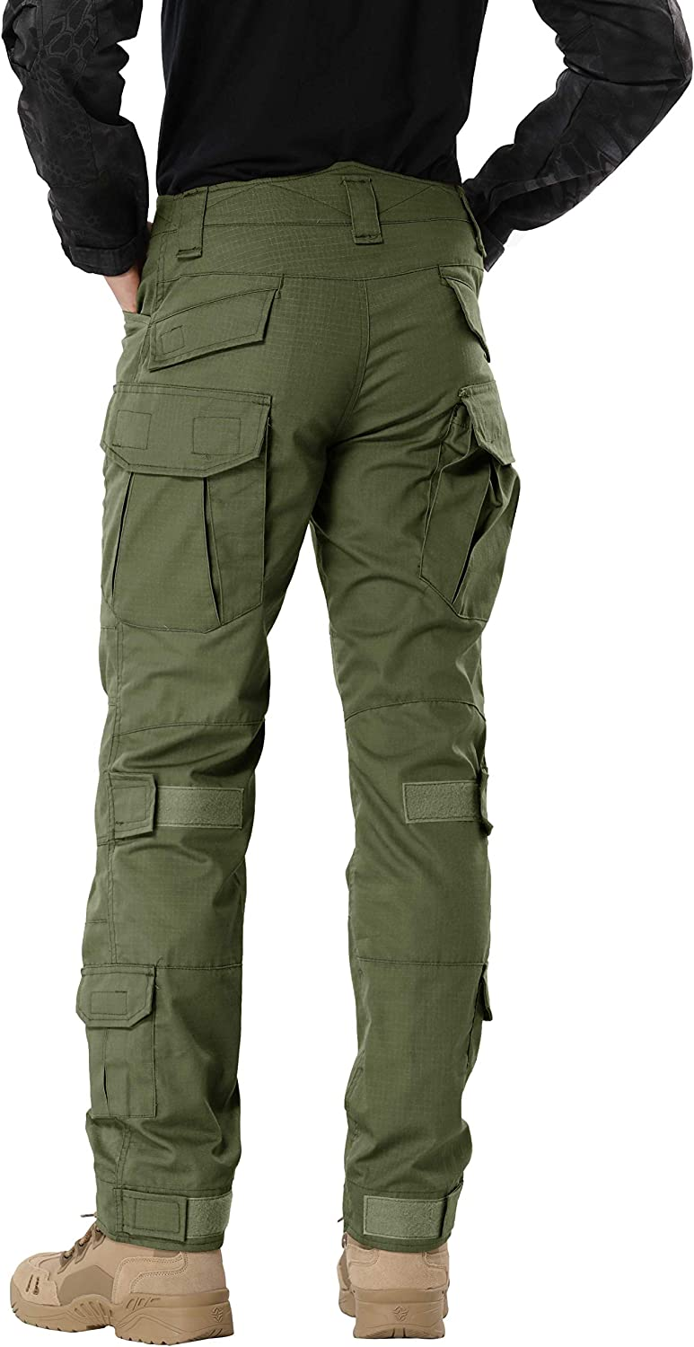 SIGAWN Casual Pants for Men with Pockets Mens Black Cargo Pants Relaxed Fit Cotton Cargo Pants Outdoor Combat Pants