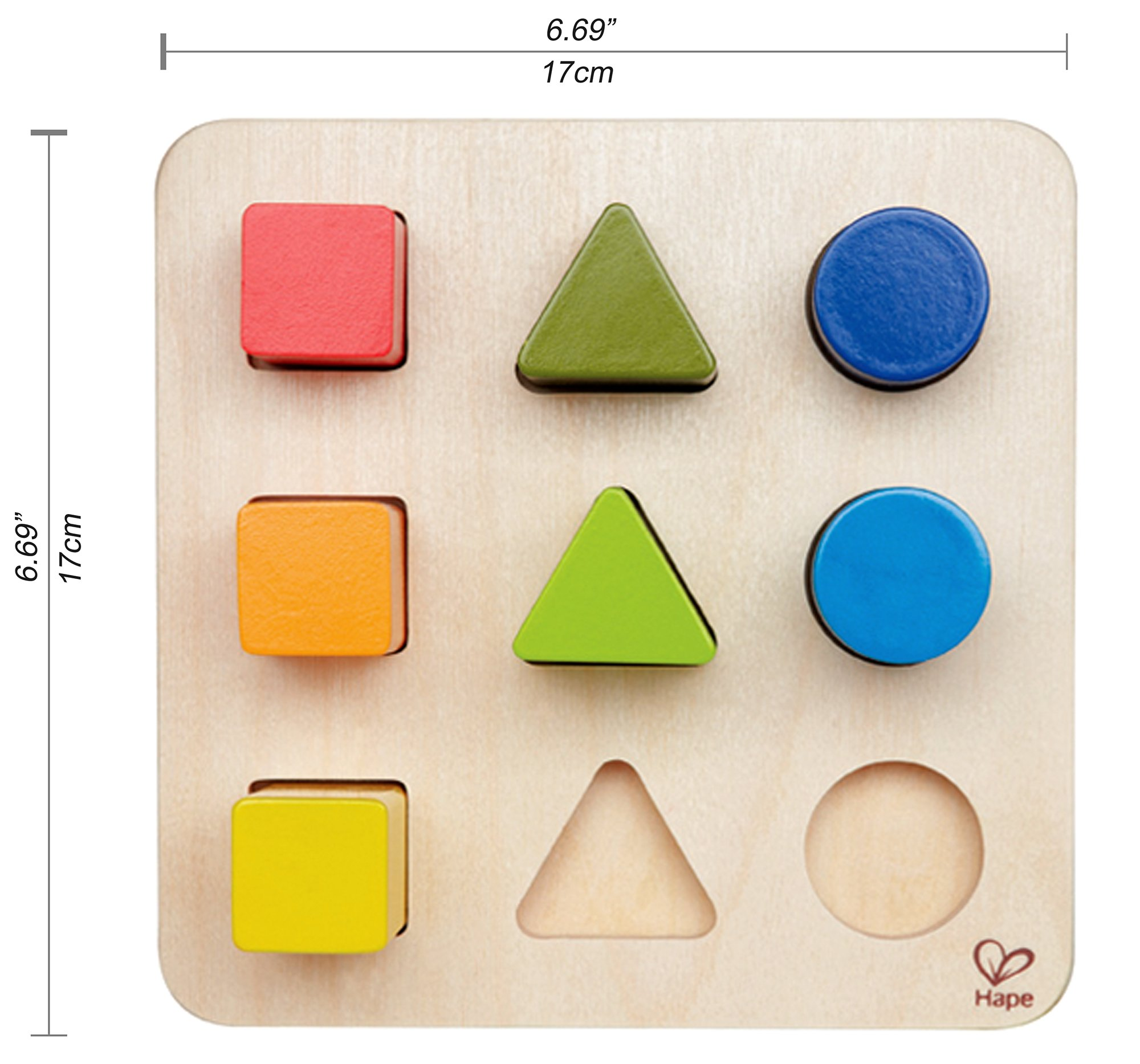 Hape Color and Shape Wooden Block Sorter by Hape (Image #4)
