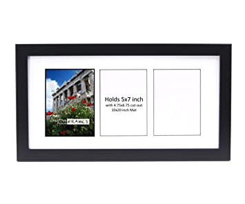 Amazoncom Creativepf 3 Opening Glass Face Black Picture Frame To