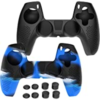 Simpeak 2 Pack Silicone Case Cover Skin Protector Compatible with Playstation 5 PS5 DualSense Wireless Controller 2020…