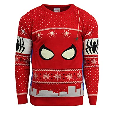 Official Marvel Spiderman Christmas Jumper / Ugly Sweater: Amazon ...