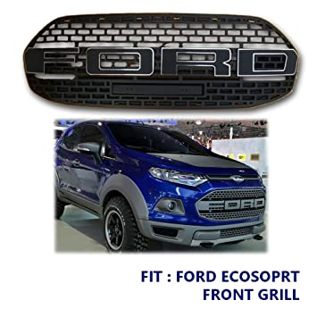 Fit  Ford Ecosport Front Grill Suv Raptor Grille Black Matt Type