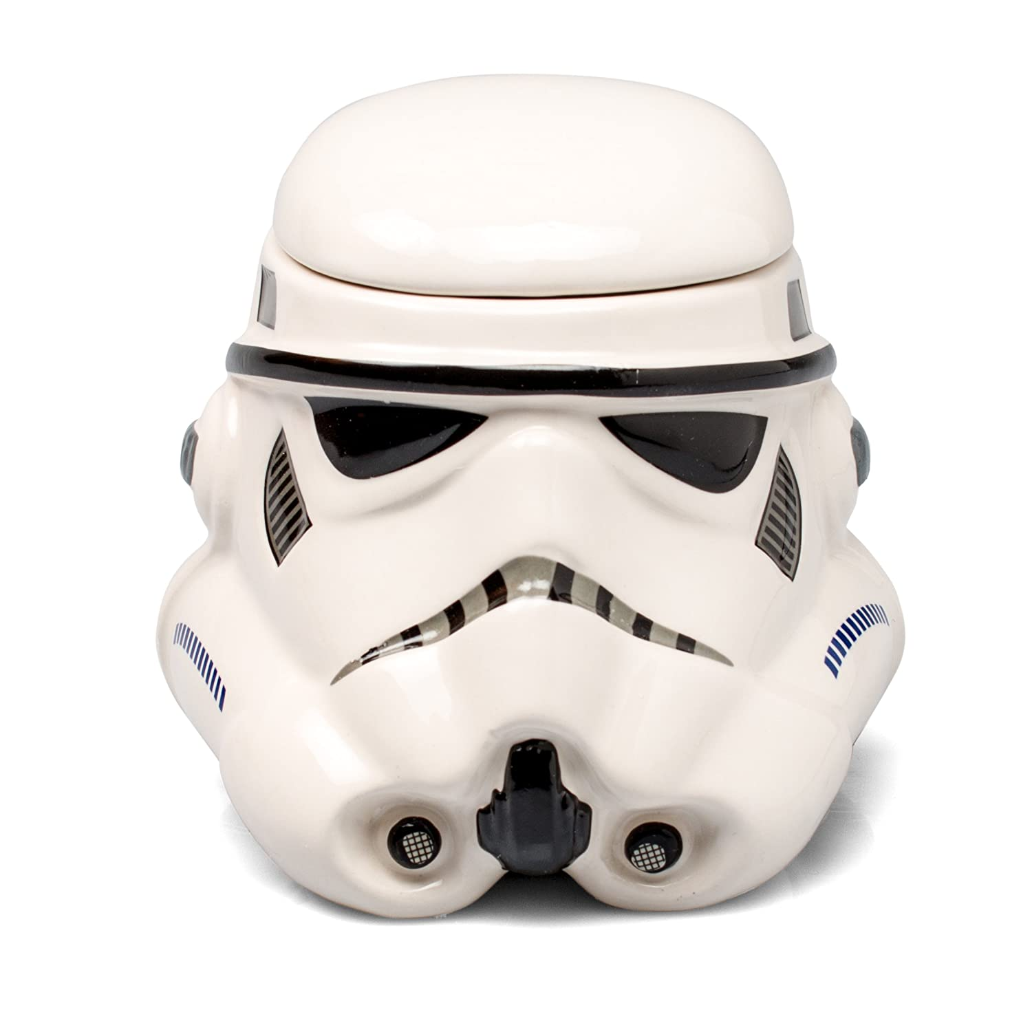 Star Wars Mug - Stormtrooper Helmet 3D Ceramic Coffee and Drink Mug with Removable Lid - 20-oz Underground Toys STAR285