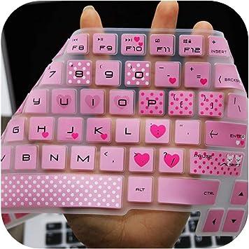 kawaii - Funda protectora de silicona para teclado HP 15,6 ...