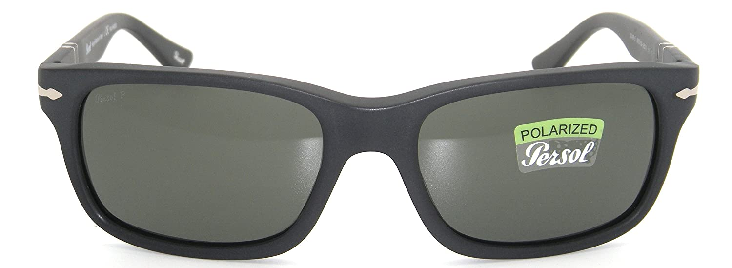 5044ebe89bc New Authentic Persol Matte Black Frame Grey Polarized Lenses 0PO 3048S  900058 58mm  Amazon.co.uk  Clothing