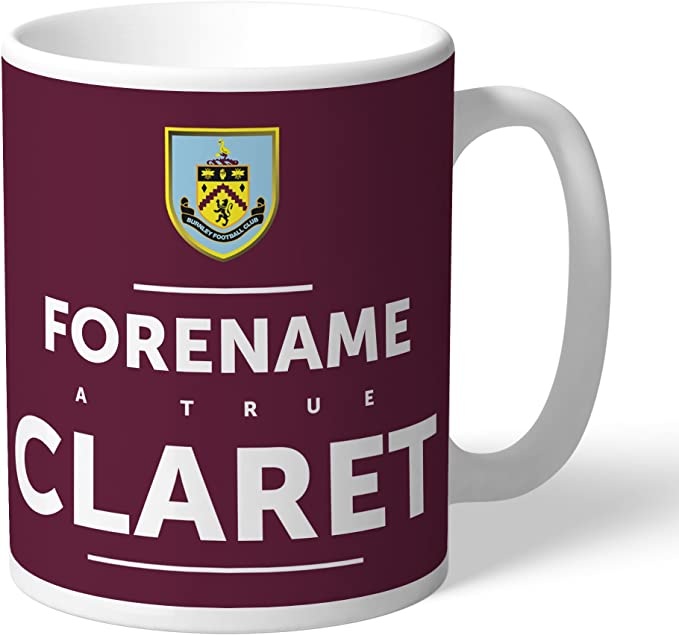 Official Personalised Burnley FC True Mug