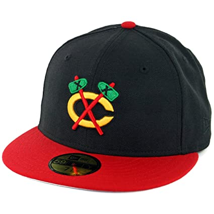 37f6468707a Image Unavailable. Image not available for. Color  New Era 5950 Chicago  Blackhawks Alternate Tomahawk ...