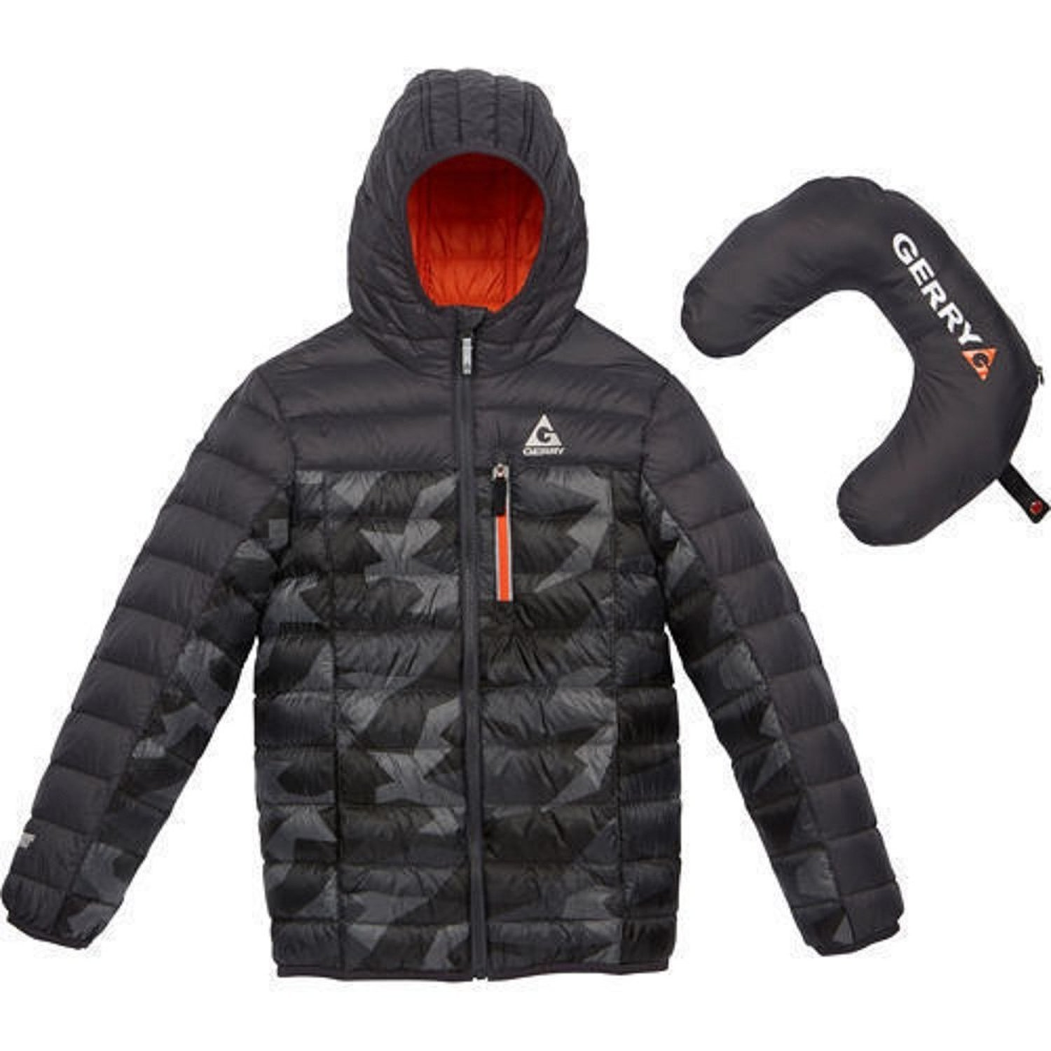 Gerry Boys' Packable Sweater Down Jacket Grey Print XS-6