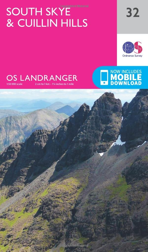 South Skye And Cuillin Hills 1   50 000  OS Landranger Map Band 32