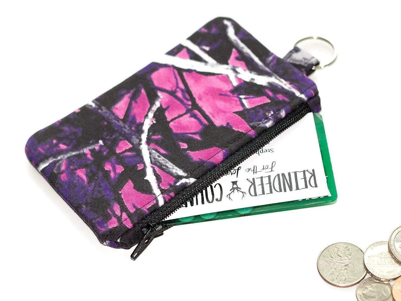 Muddy Girl Camo fabric Keychain Wallet Coin Purse