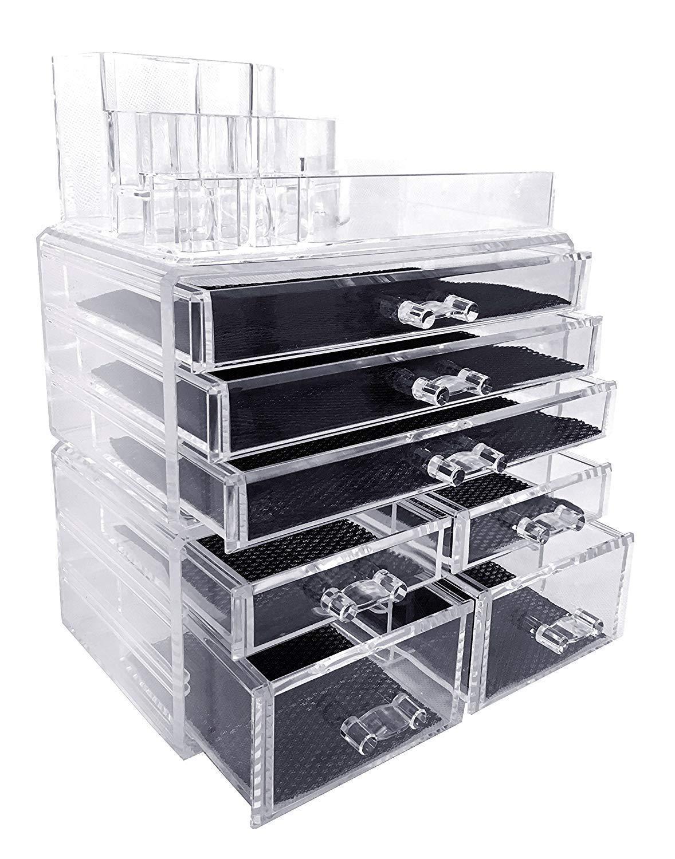 Nice Amazon.com: Makeup Organizer, Make Up Organizers And Storage Box,Cosmetic  Organizer Drawers, Two Pieces Set: Home U0026 Kitchen