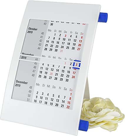 Mesa pie Calendario atril giratorio Calendario 2019 + 2020: Amazon ...