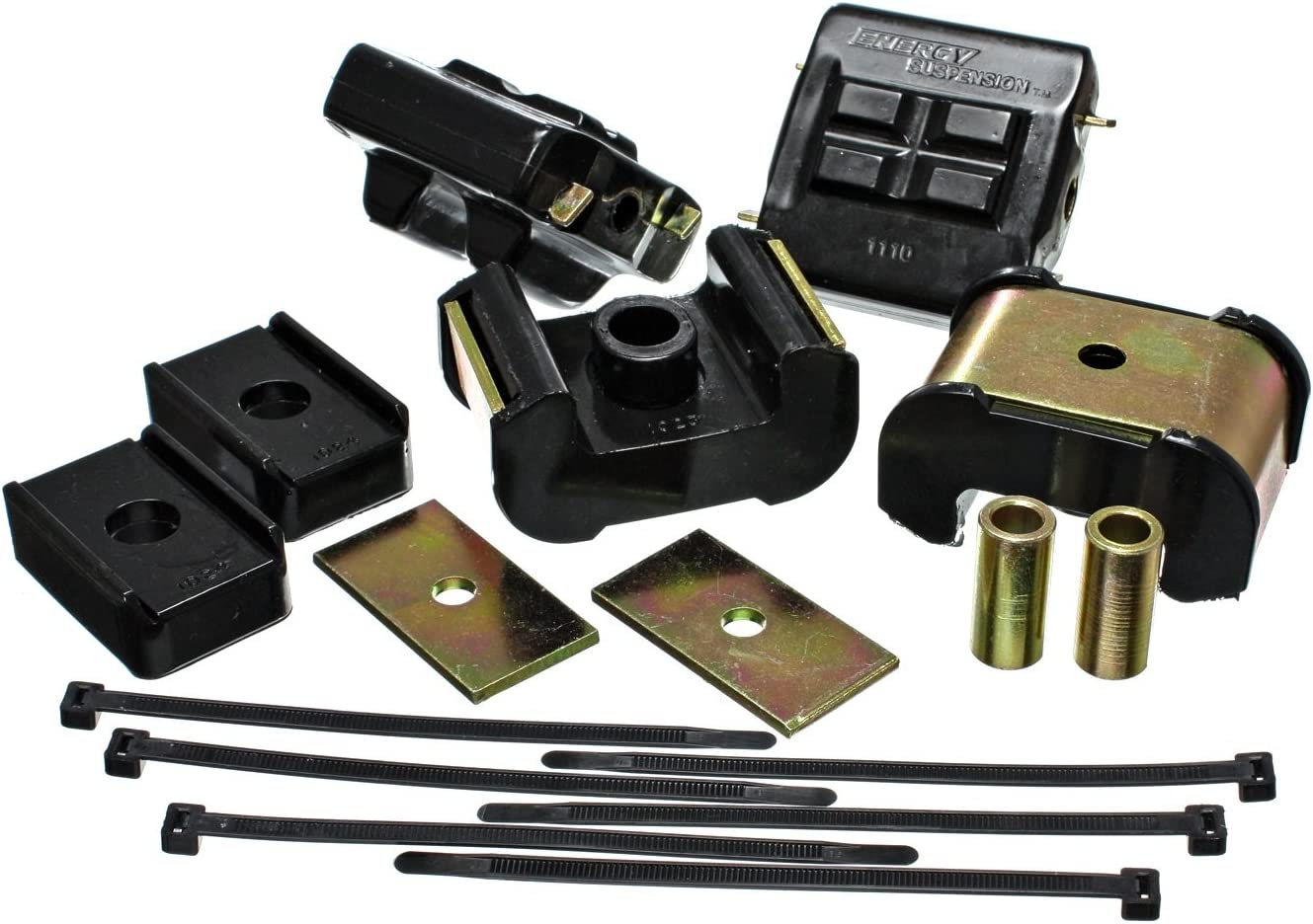 Energy Suspension Engine Mount Kit 3.1122G; Black Polyurethane
