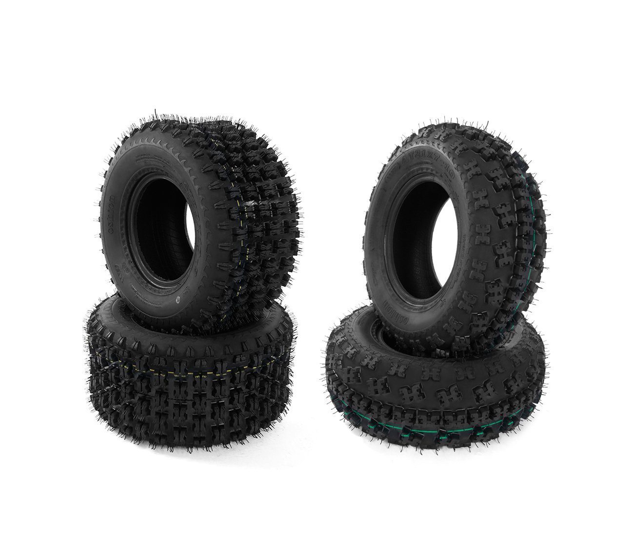 Set of 4 ATV/UTV Tires AT 21X7-10 Front & 20X10-9 Rear