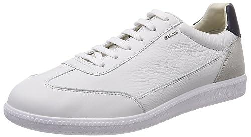 Geox U Keilan B, Scarpe da Ginnastica Basse Uomo, Bianco (White),