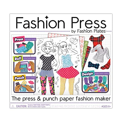Kahootz Fashion Press Paper Fashion Maker Deluxe Activity Kit: Toys & Games