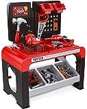 Play&Smile Kinderwerkbank Werkstatt Werkzeugset und Bohrer – Kleinkindspielzeug
