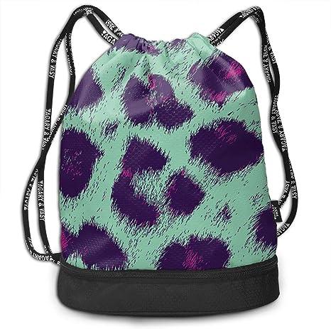 GymSack Drawstring Bag Sackpack Colorful Sport Cinch Pack Simple Bundle Pocke Backpack For Men Women
