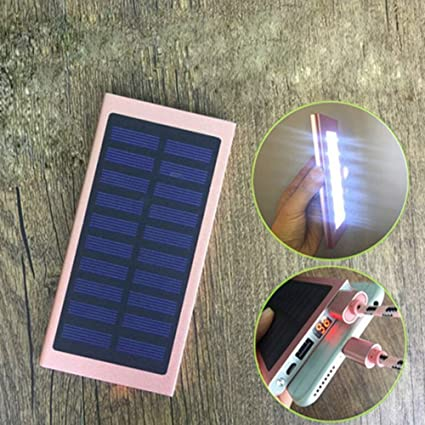 Amazon.com: XZB Cargador Solar luz LED ultrafina Solar banco ...