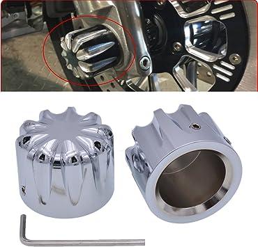 Tuincyn Motorrad Chrom Vorderachse Abdeckung Hutmutter Schraube Hardware Kit Verwendet Für Harley Xl883 Xl1200 X48 Modelle Motorrad Front Dekoration Zubehör 1 Satz Auto