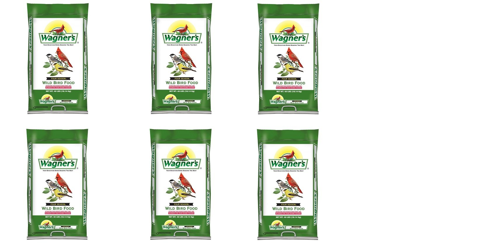 Wagner's 13013 Four Season Wild Bird Food, 40-Pound Bag (6,BAGS) by Wagner's