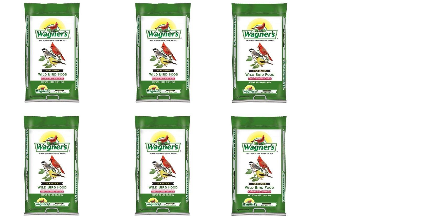 Wagner's 13013 Four Season Wild Bird Food, 40-Pound Bag (6,BAGS)