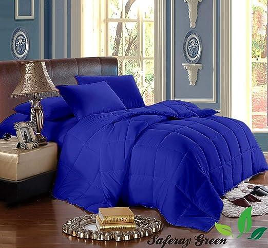 Amazon.com: Royal Blue 3pc Comforter Set   Eastern King Size 118 x