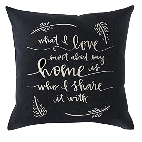 NasNew What I Love About My Home Cotton Linen Throw Pillow ...