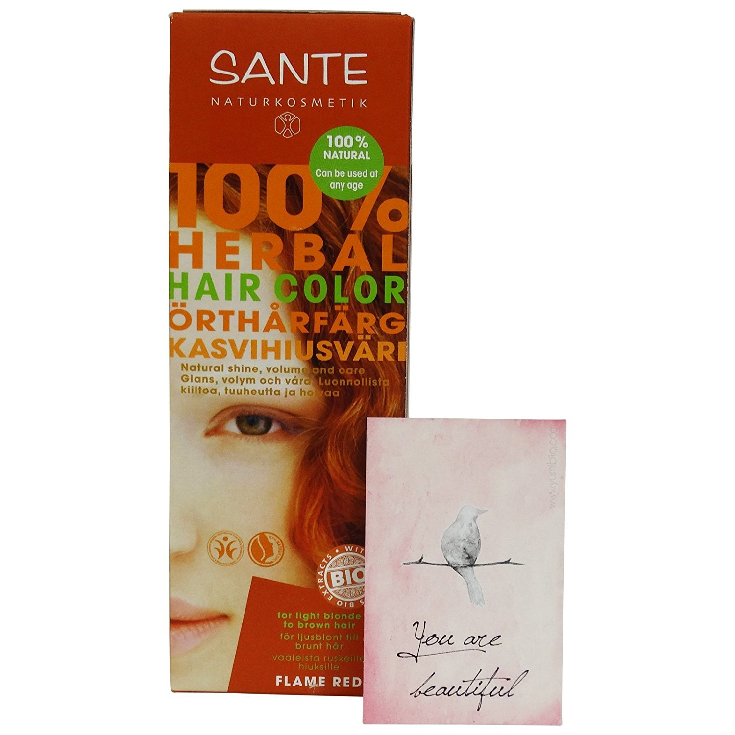 Amazon Sante Herbal Hair Color Flame Red Copper Free From