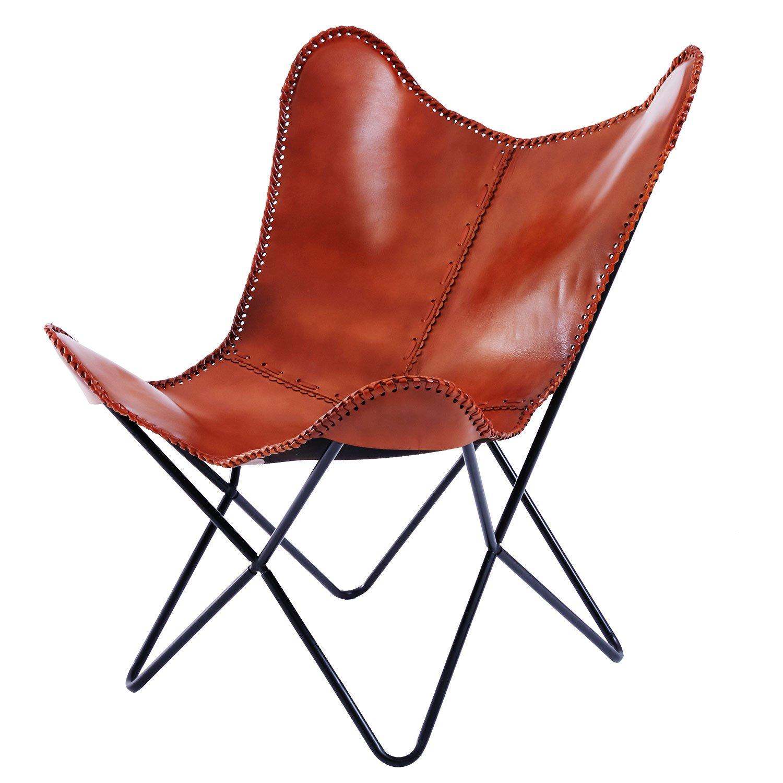 LOWYA (ロウヤ) チェア パーソナルチェア 椅子 本革 ヴィンテージ調 アクセントステッチ レザー ブラウン B07DT855DK ブラウン(レザー) チェアー