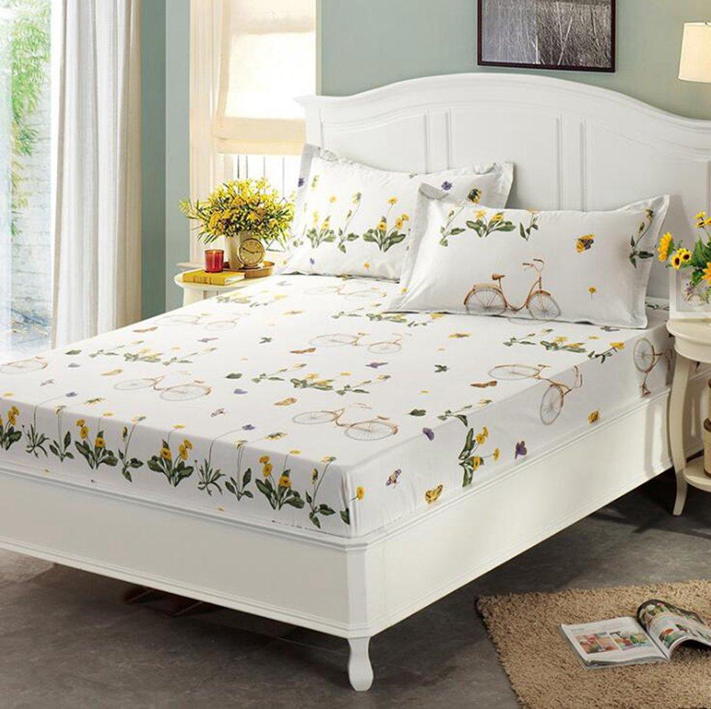 Wmshpeds Pieza única de cama de algodón activo lin funda de colchón colchas de algodón transpirable: Amazon.es: Hogar