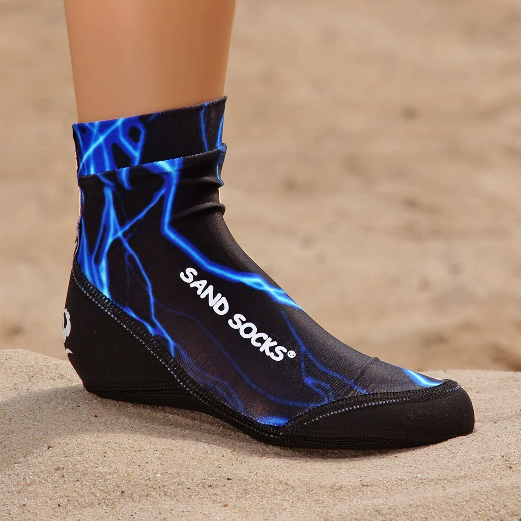 Vincere Sand Socks For Snorkeling Beach Soccer Sand Volleyball Blue Lightning S Toddler Shoe Sizes 2 6 Amazon Ca Sports Outdoors