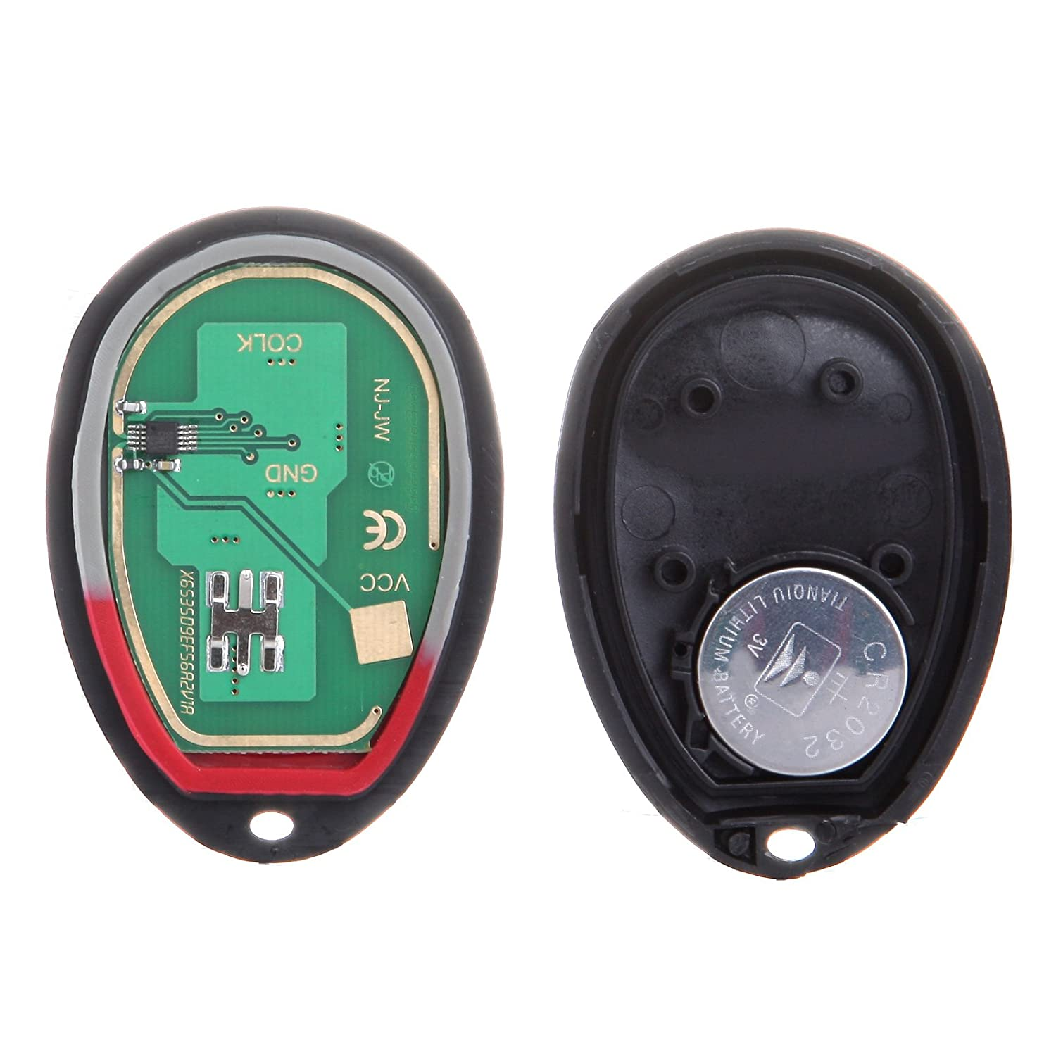 cciyu 1PC 3 Buttons Keyless Entry Remote Fob Replacement fit for Chevrolet Colorado Venture//Hummer H3 H3T// GMC Canyon//Isuzu i-280 i-290 I-350 i-370 L2C0007T