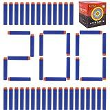 BOJIN 200弾入り 詰め替え弾丸  マイクロダーツ  ソフト弾丸 おもちゃ弾丸 安全 すばやい ナーフ対応 ナーフ弾 ナーフNーストライクエリート用  7.2*1.3cmブルー オレンジヘッド (青い)