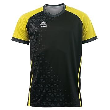 Luanvi Cardiff Camiseta, Hombre, Negro, XXL