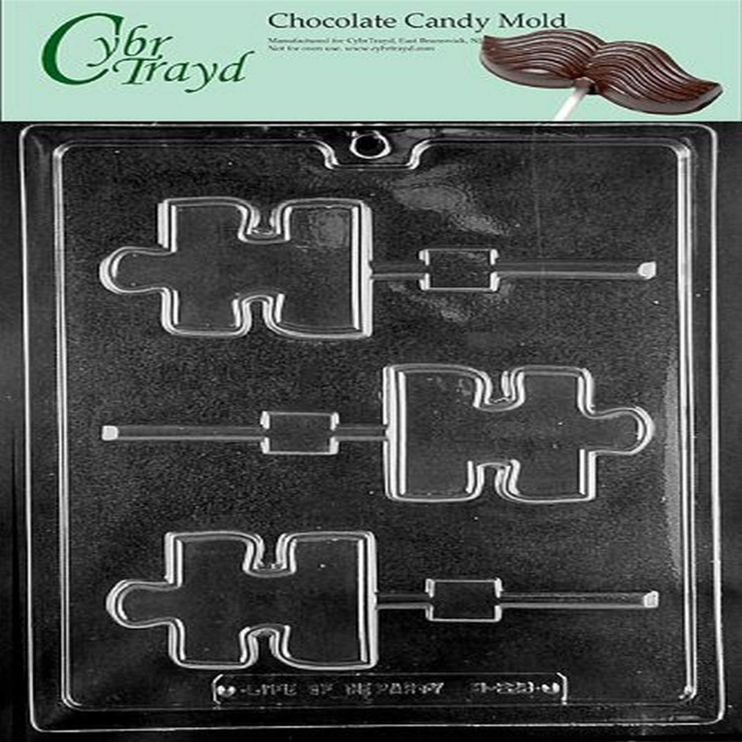 Cybrtrayd M223 Puzzle Piece Lolly Autism Awareness Miscellaneous Chocolate Candy Mold