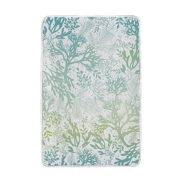 Amazon.com  U LIFE Ocean Sea Aquatic Plants Soft Fleece Throw ... f8fa0de55