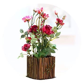 Amazon.com: Charmg artificial plants Wooden Fence Simulation ...