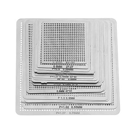 Haofy 27 Piezas Malla de Universal Directo Calor BGA Calentamiento Directo para Plantillas de Accesorios de