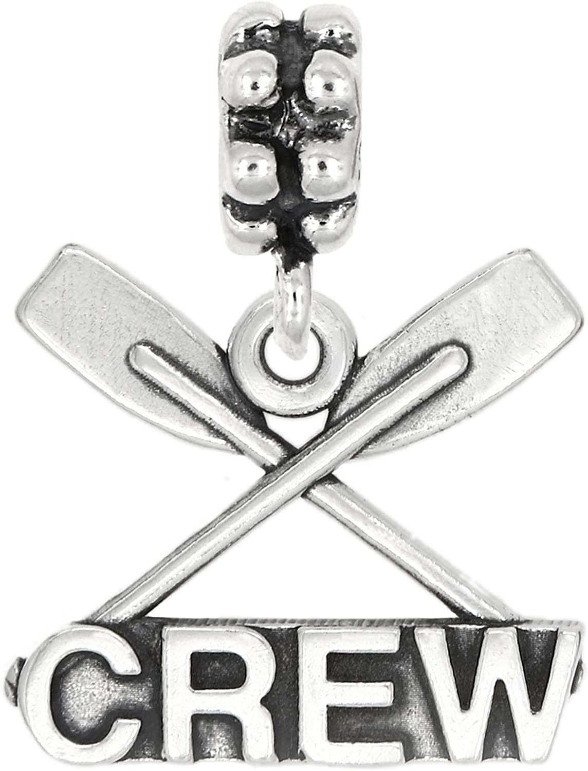 Sterling Silver Large Paddle Crew Rowing Crew Charm