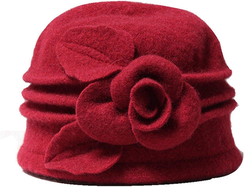 Women Fedoras Pure Wool...