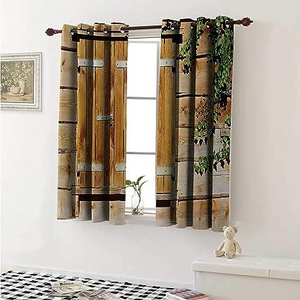 Amazon.com: shenglv Shutters Drapes for Living Room Facade ...