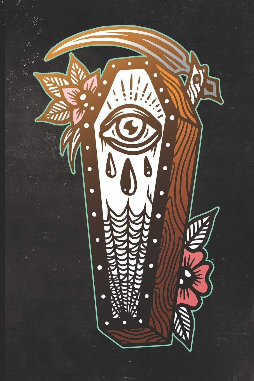 Journal: Grim Reaper Casket Tattoo Design Dot Grid Tattoo Flash ...