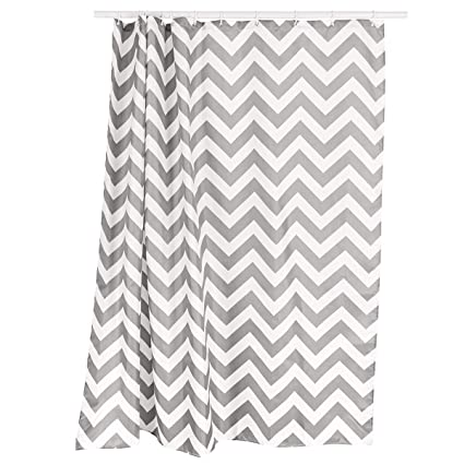 Cyrra Bathroom Shower Curtain Weighted Hem Thickening Waterproof Mildew  Proof Shower Curtain Rings Attached (Chevron