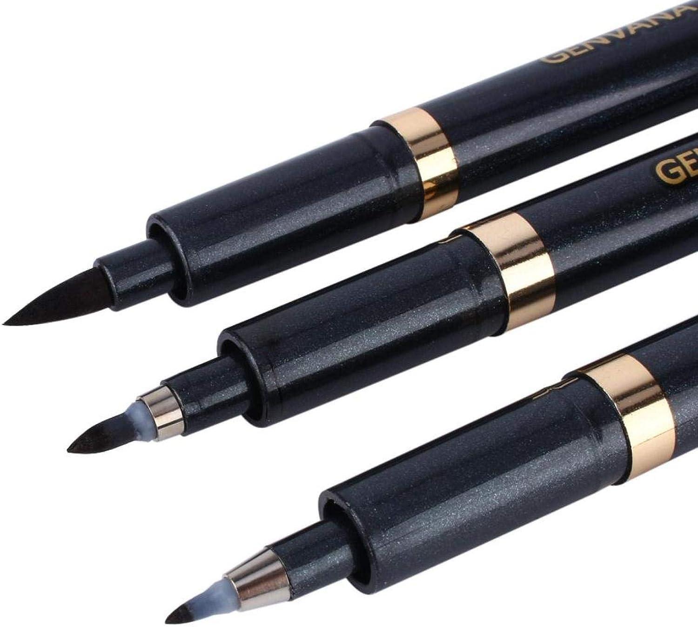 Ensemble de calligraphie stylos calligraphie stylo de calligraphie brosse recharge pour d/ébutants /écriture Illustration noir pinceau marqueur ensemble de calligraphie Signature