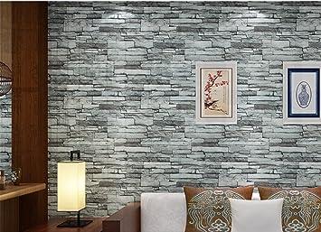 modern 21 inch by 394 inch stone texture pvc waterproof brick wallpaper wall decor wall murals