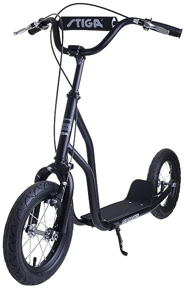 Stiga Sports Air Scooter - Patinete, color negro, talla 12