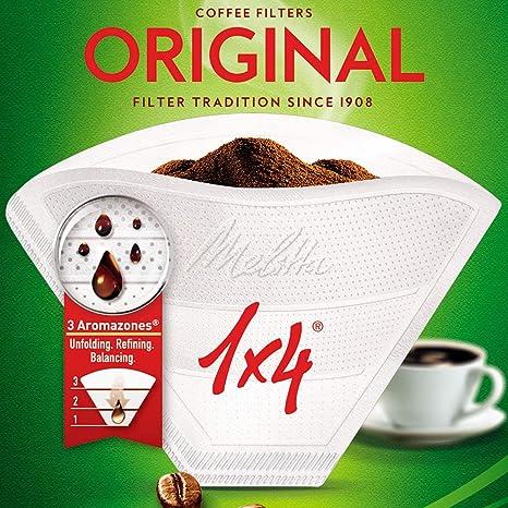 Para Aromaboy de Melitta Tama/ño 100 Sin blanquear Pack de 320 filtros de papel para caf/é Tipo cono